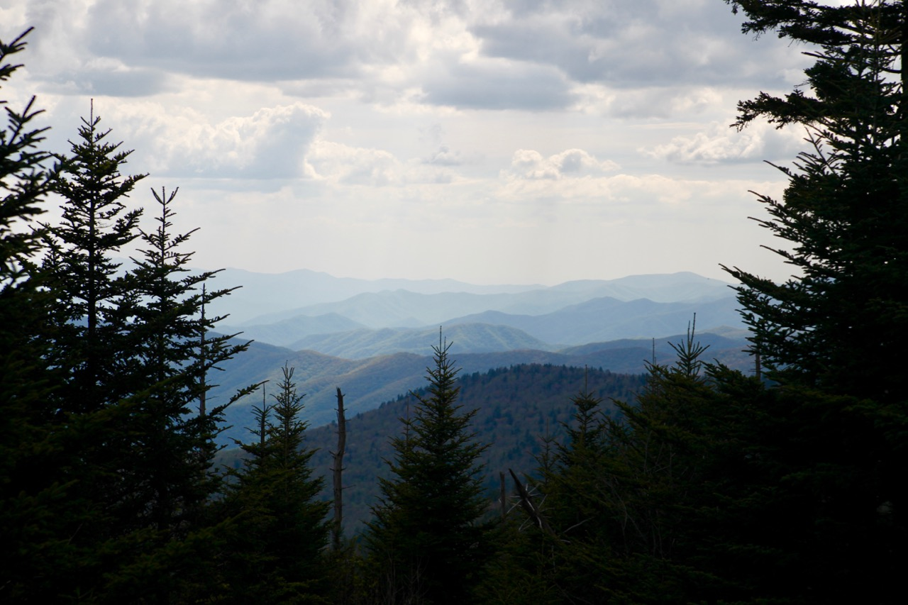 clingmans dome view great smoky mountains